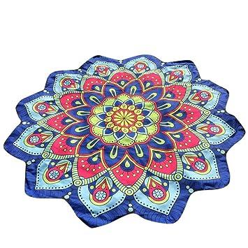 Toallas de playa, covermason Lotus Hippie Bellota tapiz playa flores Jeter toalla cojín Yoga Alfombra Bohème, poliéster, d, B: Amazon.es: Hogar