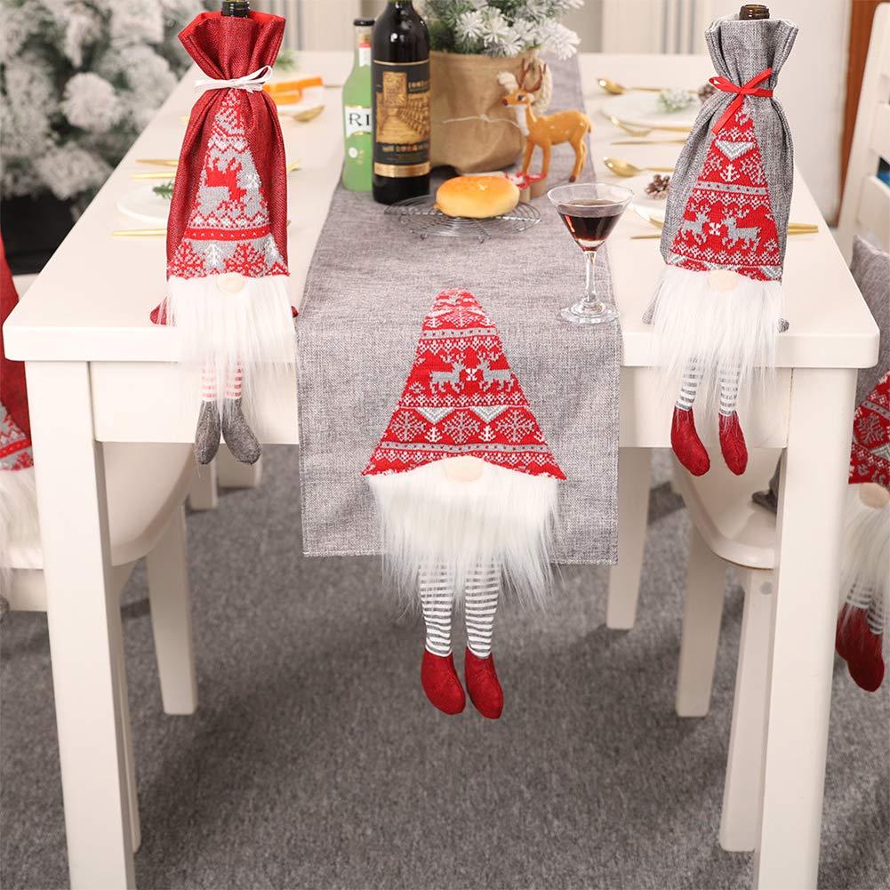 Red, 35x180cm Meiosuns Camino de Mesa Table Runner Table Flag Mantel de Navidad Pa/ño de Mesa Rectangular Pap/á Noel Rudolf Tridimensional Creativo Mantel Individual Decoraci/ón Hotel Fiesta