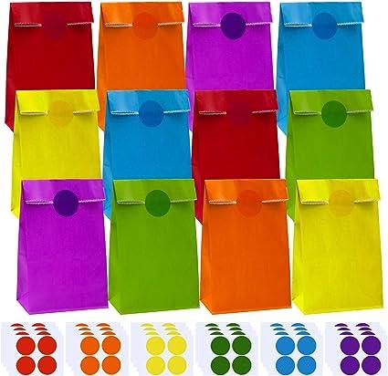 Amazon.com: Coobey - Bolsas de papel para fiestas, 60 ...