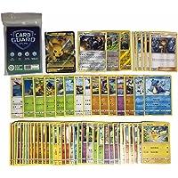 Pok Pokémon 50 Pokémonkaarten + 1 V / GX/EX / VMAX Pokemon-kaart + 2 briljante cadeaukaarten + 1 zeldzame kaarten + 100…