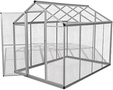 Festnight Pajarera Grande para Exterior Estructura de Aluminio 178x242x192 cm: Amazon.es: Hogar
