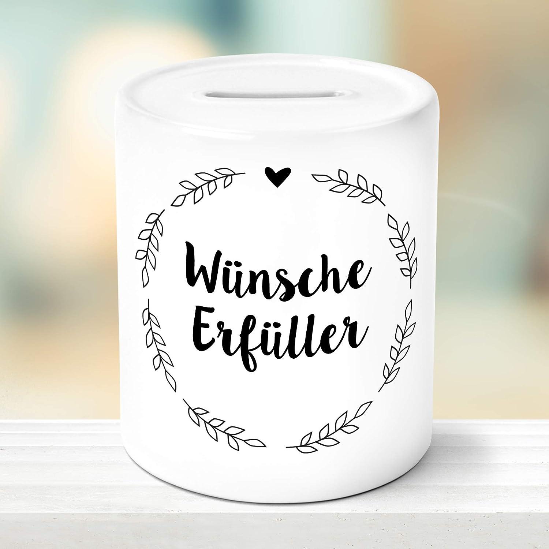OWLBOOK W/ünscheerf/üller mit Blumenkranz Spardose Geschenke Geschenkideen f/ür M/ädchen zum Geburtstag Weihnachten