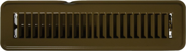 MINTCRAFT FR01-2X12B Brown Floor Register, Fits 2 X12-Inch vent