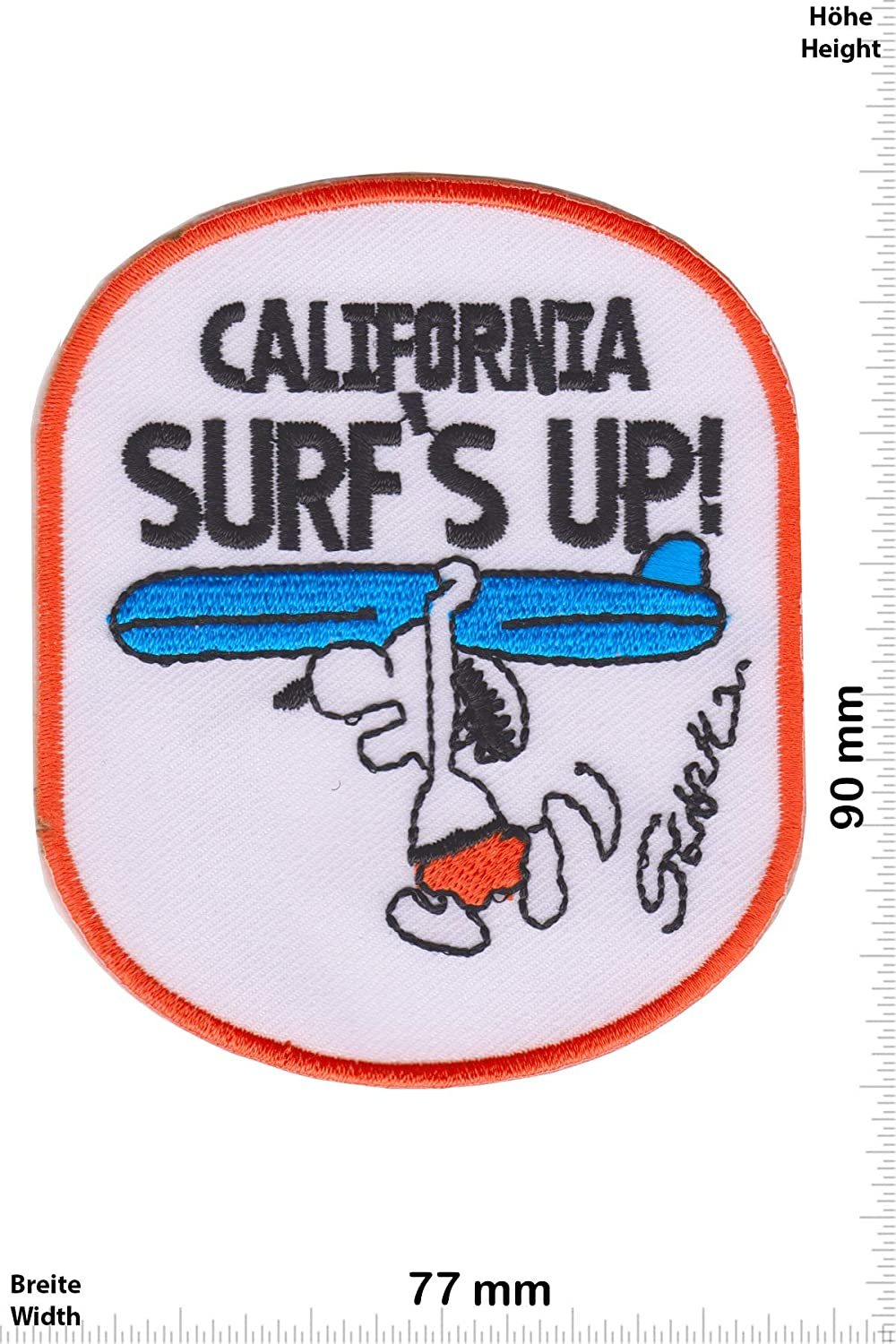 Snoppy -Cartoon -Snoppy -Snoppy Iron on Applique Embroidery /Écusson brod/é Costume Cadeau- Give California Surfs Up Patch