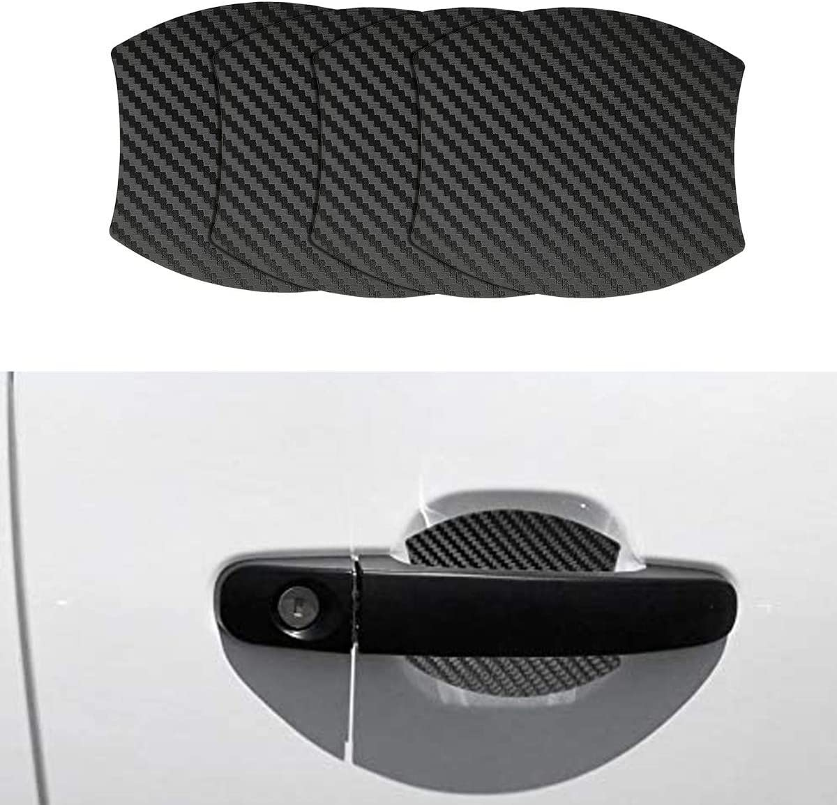Mling Magnetisch Türgriffmulde Schutz Kratzfest Türgriffmulde Lackschutz 4 Stück Kompatibel Für Ranger Auto