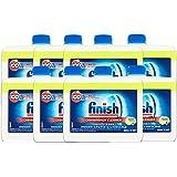 Finish Dishwasher Machine Cleaner, Lemon Sparkle, 250ml - Pack of 8