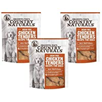 Grandma Mae's Country Naturals 3 Pack of Grain Free Chicken Tenders Chewy Dog Treats, 5 Ounces Each