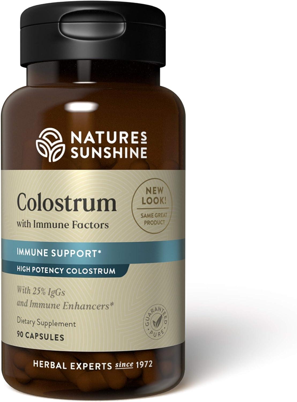 Nature's Sunshine Colostrum with Immune Factors, 60 Capsules