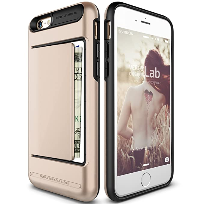 new style e485d c3309 iPhone 6S Case, Verus [Damda Clip][Champagne Gold] - [Wallet Card  Slot][Military Grade Protection] For Apple iPhone 6 6S 4.7