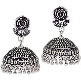 Jaipur Mart Jhumki Earrings for Women (Silver)(GSE538SLV)
