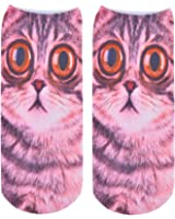 Socks 3D Print Face Cat Cute Women Sock Charactor Men Calcetines For Christmas