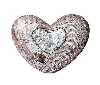 Amazoncom Zdada Mermaid Pillow Case Heart Shaped Magic Rose Gold