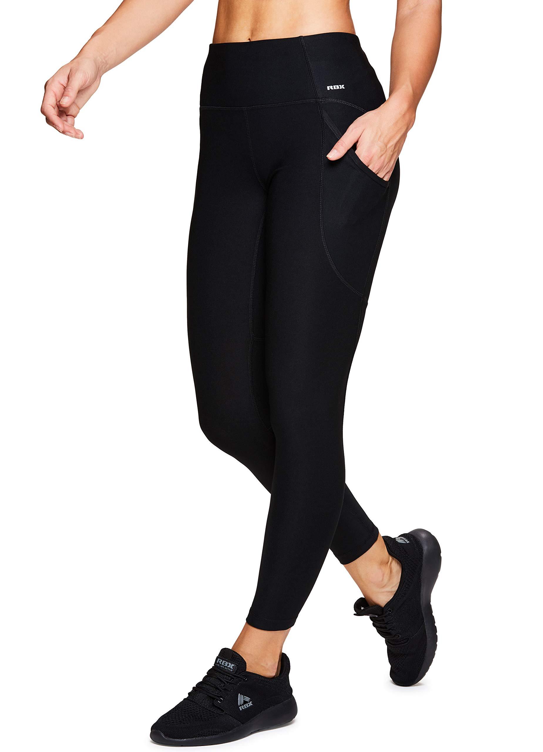 RBX Active Women's Workout Yoga Leggings Black S19 S