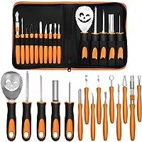 Pumpkin Carving Kit,15PCS Carvable Pumpkin Carving Tools for Halloween Decorations Jack O Lanterns,Heavy Duty…
