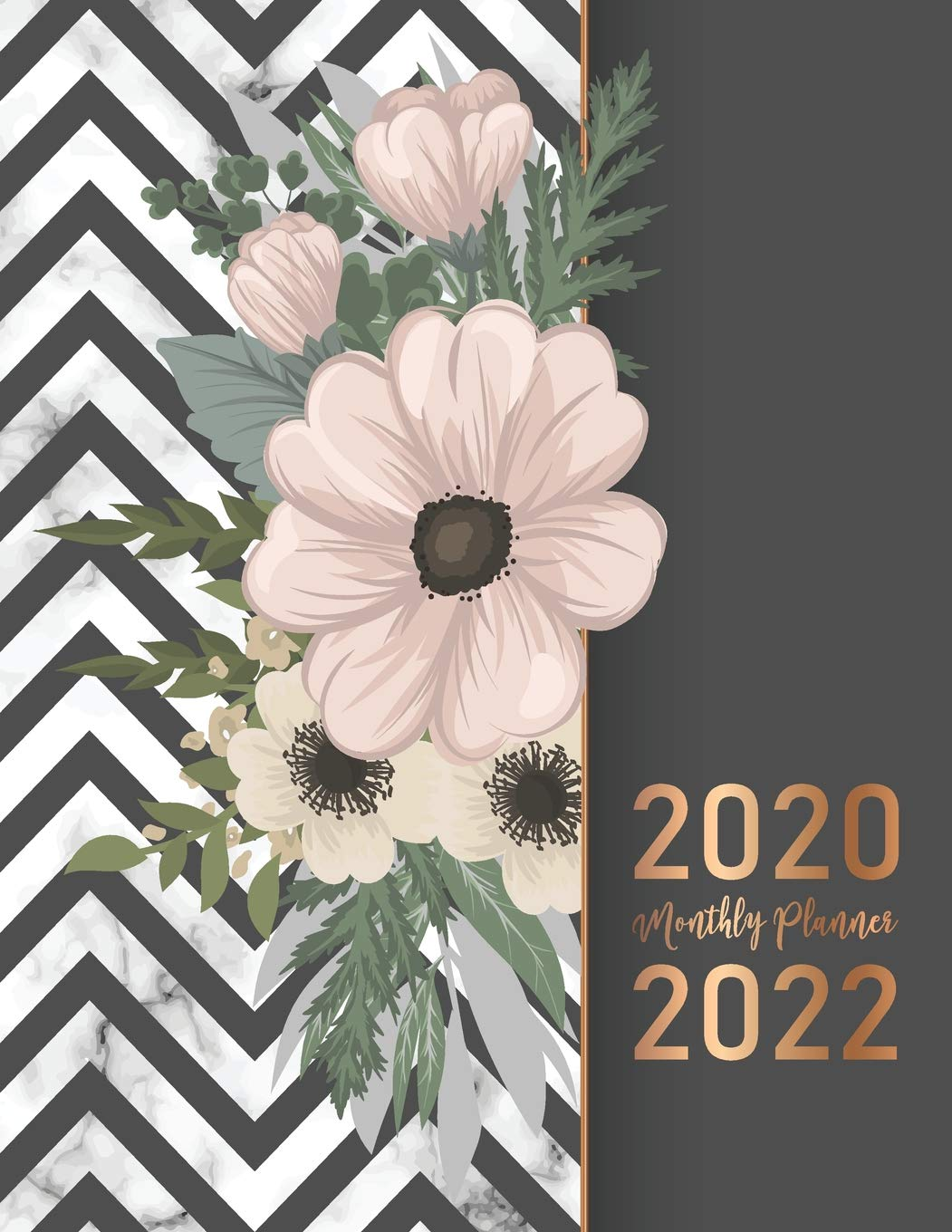 2022 Calendar Cover.Buy 2020 2022 Monthly Planner Elegant Marble Flower Cover 2020 2022 Three Year Planer With Holidays Agenda Yearly Goals Monthly Calendar 36 Months 36 Month Calendar Jan 2020 To Dec 2022