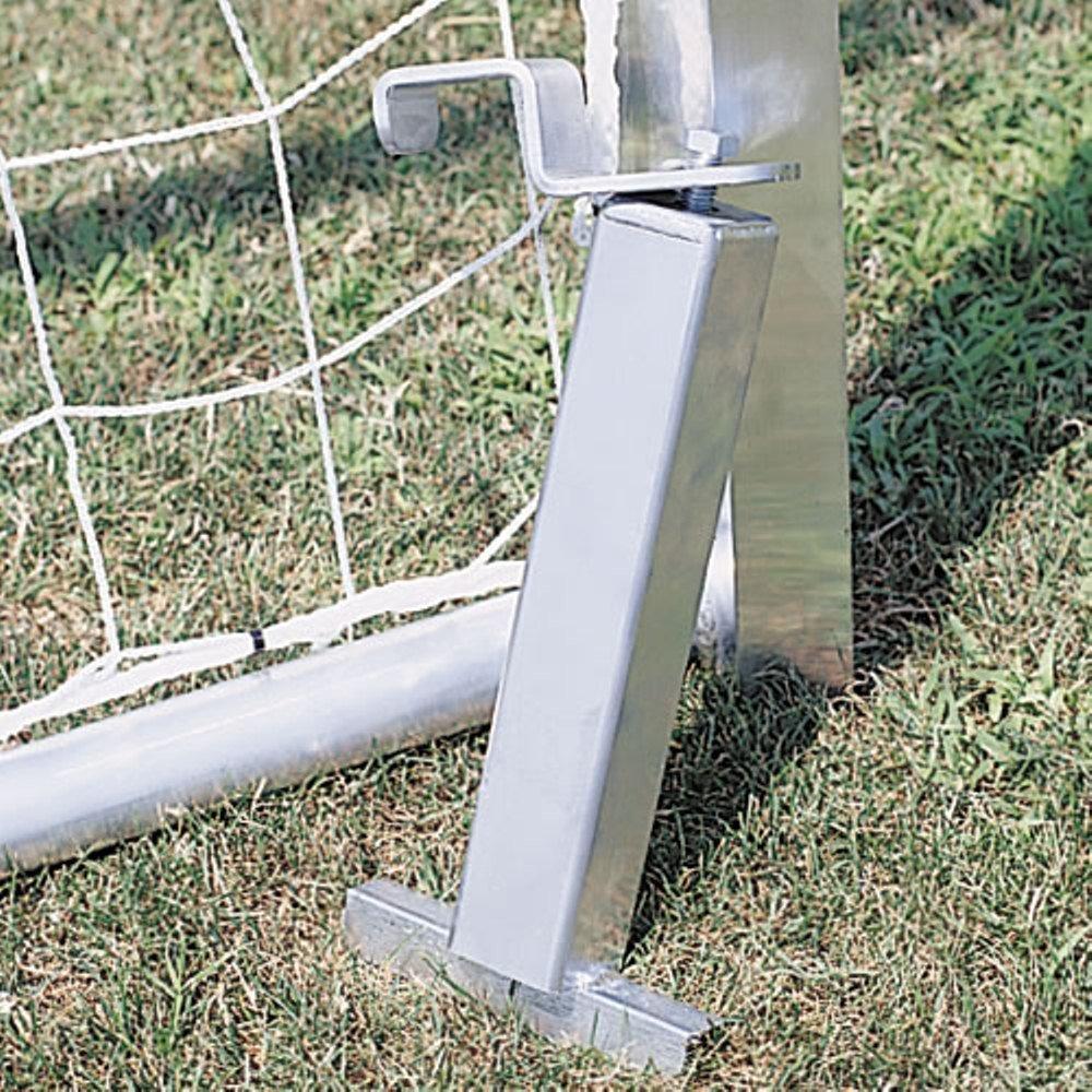 BSN Deportes Fútbol Goal Anchor permanente campo de fútbol accesorios, Plata, grande
