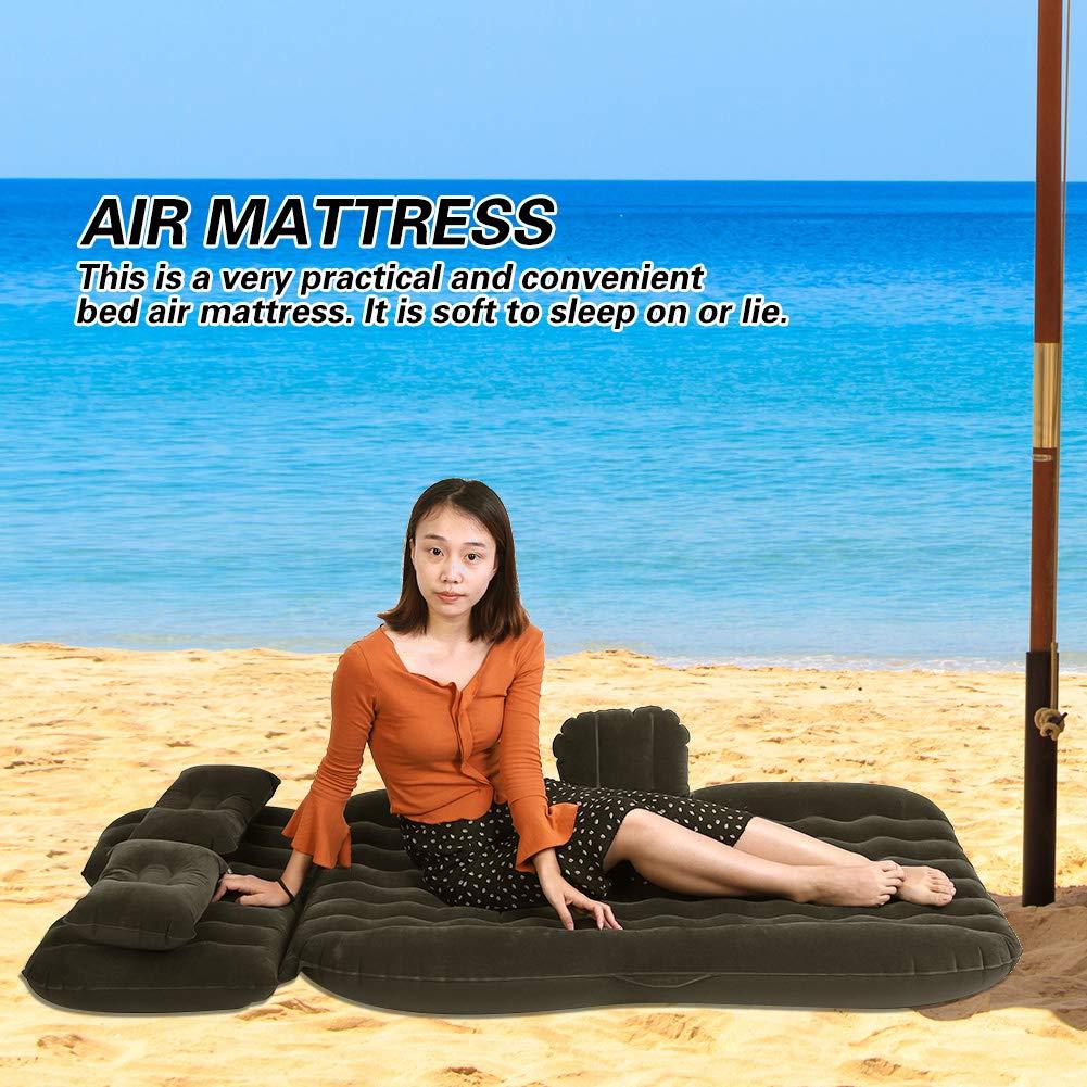 GOTOTOP Aufblasbare Matratze des Autos,Aufblasbare Bett Matratze Indoor Outdoor Camping Reise Auto R/ücksitz Luftbetten Kissen
