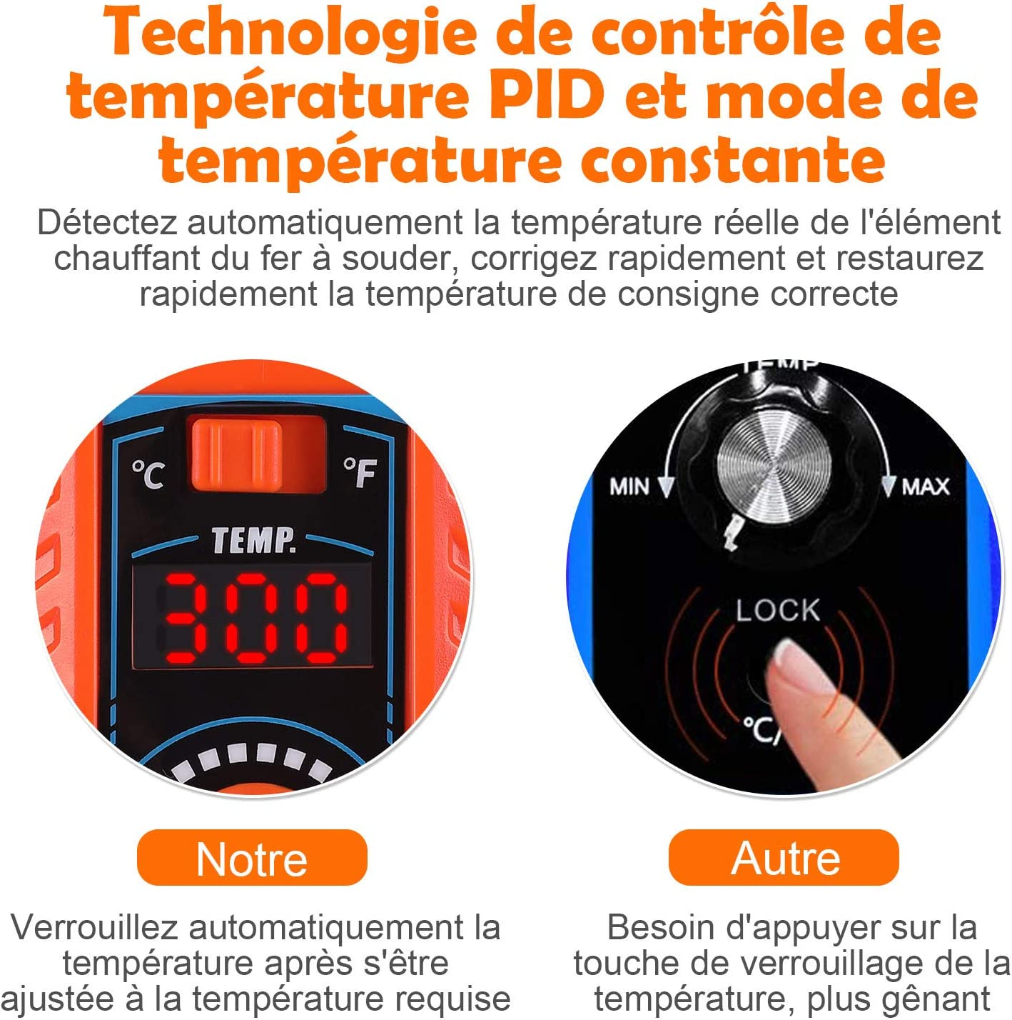 verriegelte Temperatur von 392 /°F ~ 896 /°F antistatische L/ötstation mit automatischer Schlaffunktion Vastar L/ötstation mit einstellbarer Temperatur