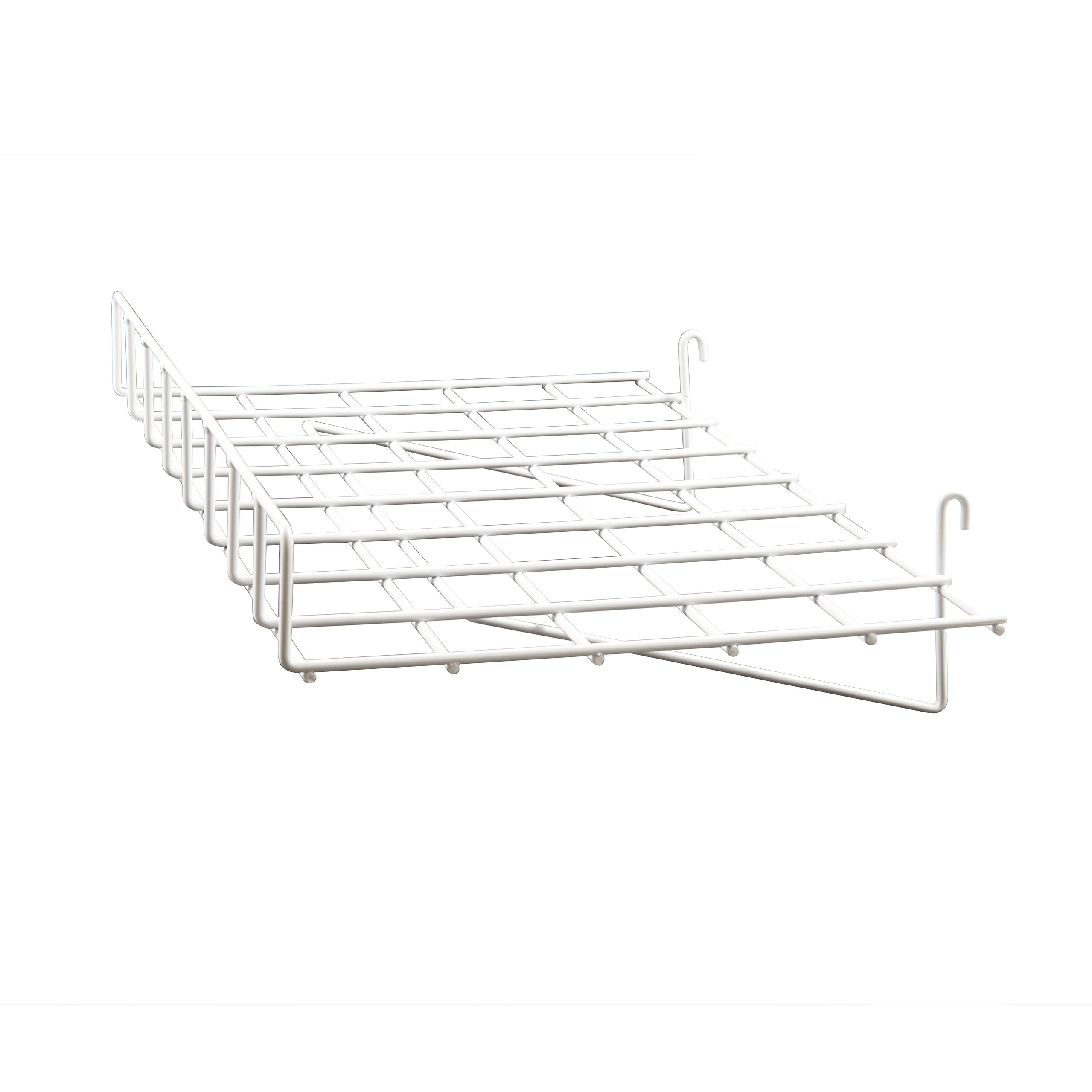 Econoco WTES/93 Straight Shelf with Front Lip, 24'' Length x 15'' Depth, White (Pack of 4)