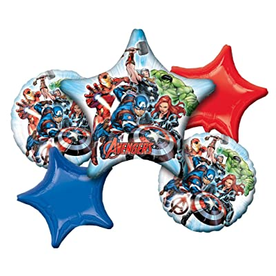 Anagram 34659 Gers Animated Happy Birthday Foil Balloon Bouquet, Large, Multicolor: Kitchen & Dining