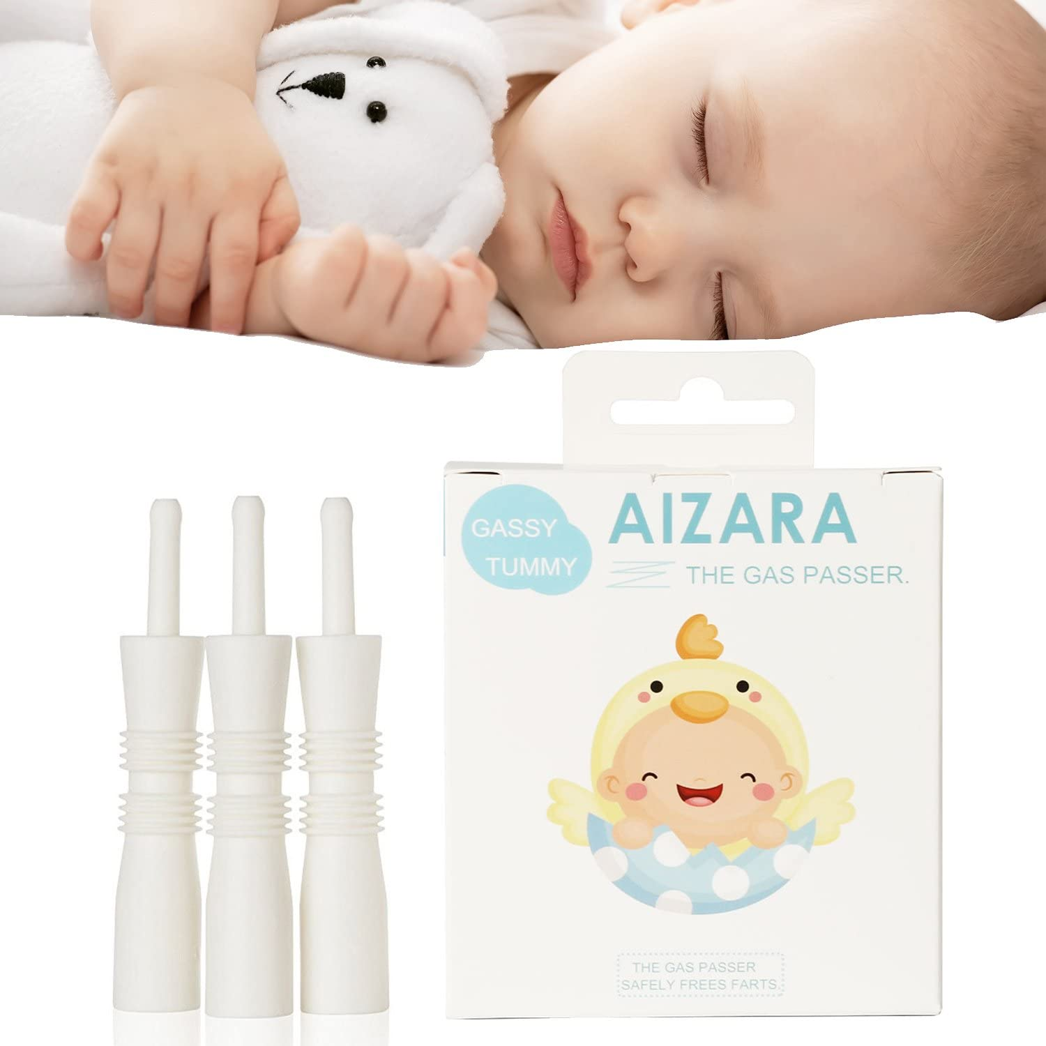 AIZARA Gas and Colic Reliever for Babies - Natural Solution for Baby Colic and Gas Relief - Instant Constipation Relief for Gassy Babies (20 Count): Kitchen & Dining