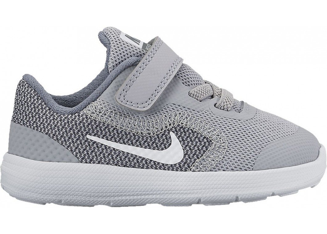 NIKE Boys' Revolution 3 (Tdv) Running-Shoes, Wolf Grey/White/Cool Grey, 6 M US Toddler by NIKE