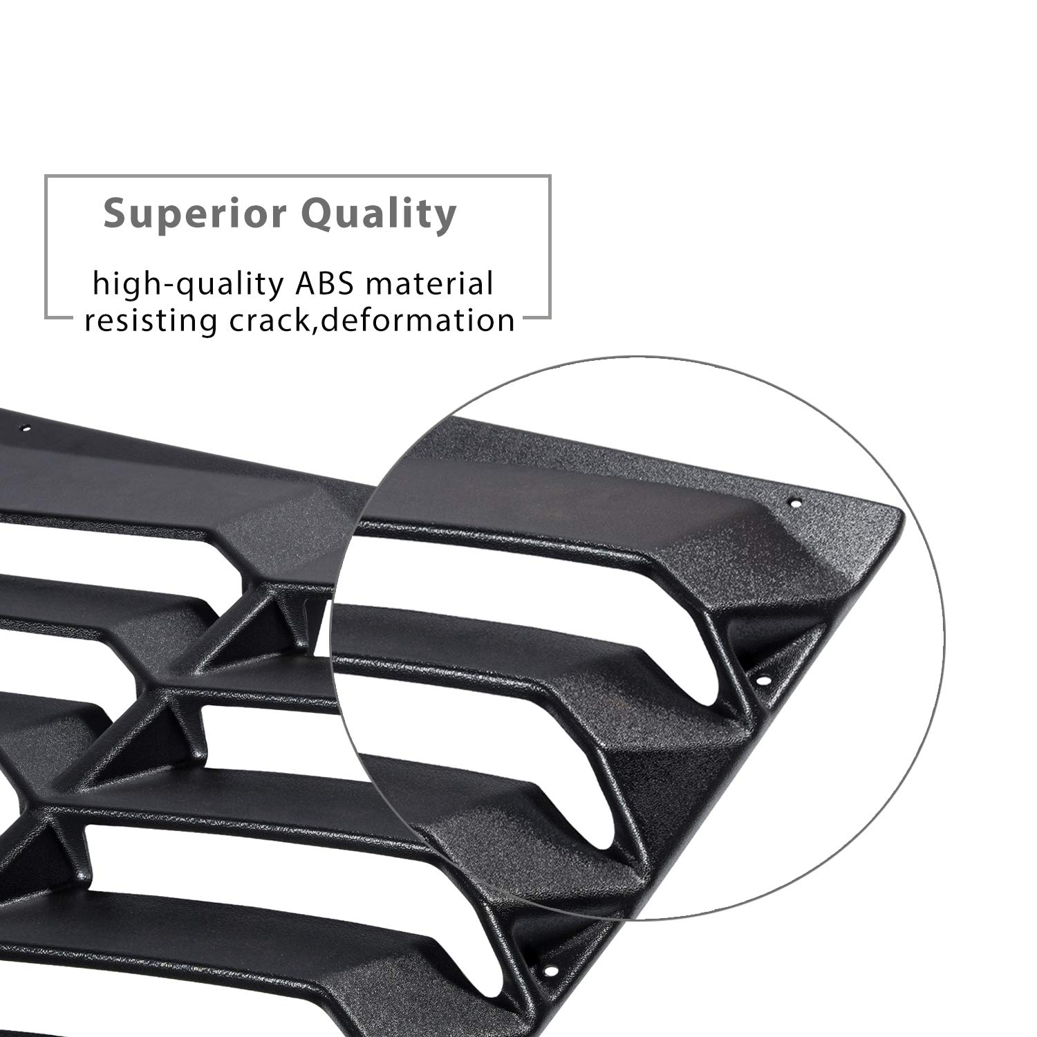 Yoursme Rear Window Louvers Matte Black Sun Shade Windshield Cover in Lambo Style for 2016 2017 2018 2019 Chevy Chevrolet Camaro by Yoursme (Image #3)