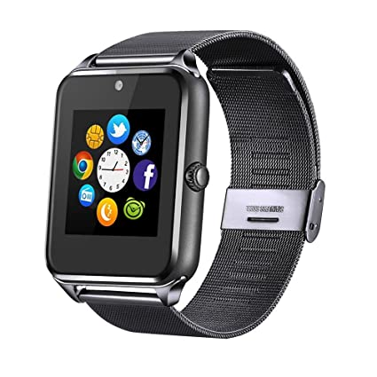 MSRMUS Replaceable Band Bluetooth Smart Watch Compatible for iPhone 5s/6/6s/7/7s and Android 4.2 or Above, Anti Lost and Pedometer Fitness Tracker