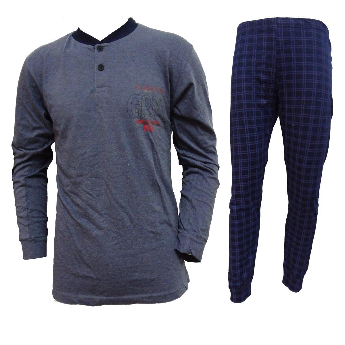 pigiama uomo lungo cotone IL GRANCHIO homewear art. GP333