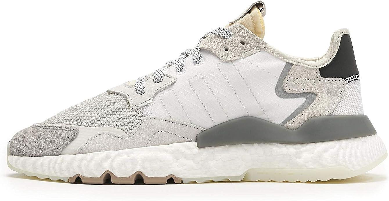 adidas Originals Nite Jogger, Footwear White-Crystal White-Core Black, 4: Amazon.es: Zapatos y complementos