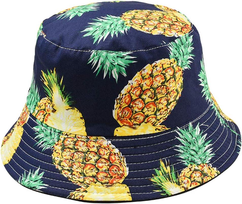 Homeofying Fruit Mignon Impression Double C/ôt/é Pliable P/êcheur Soleil Chapeau Unisexe Ext/érieur Seau Chapeau Chapeau De Seau 1#