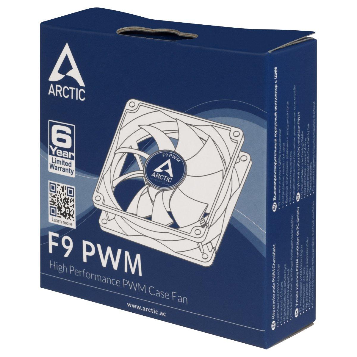 patentierte L/üfterhalter Temperatursensor reguliert RPM Temperaturgesteuerter 92 mm Geh/äusel/üfter mit Vibrationsabsorption Arctic F9 Pro TC