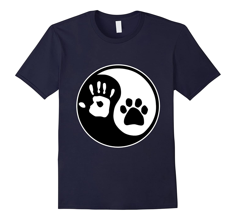 Universal Animal Rights T-Shirt - Yin Yang - Paw Print-TH