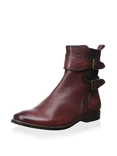 054bea6218fb Frye Women s Anna Gore Short Burnt Red Buffalo Leather Boot  Amazon ...