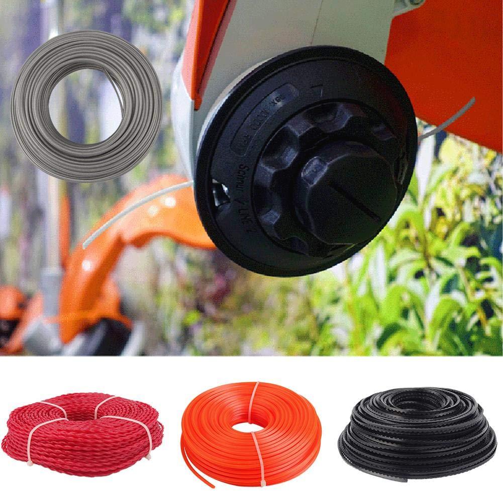 SNIIA - Cuerda de Arranque para cortadora de césped (2,4 mm x 80 m ...