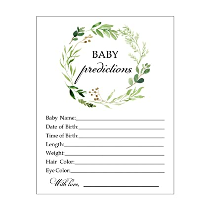 amazon com baby predictions baby shower game for boy or girl fun