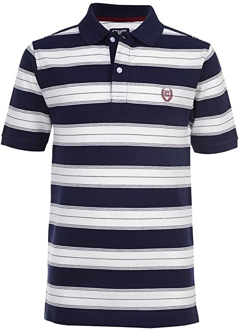 Chaps Boys Big Short Sleeve Striped Polo with Stretch, Easton ...