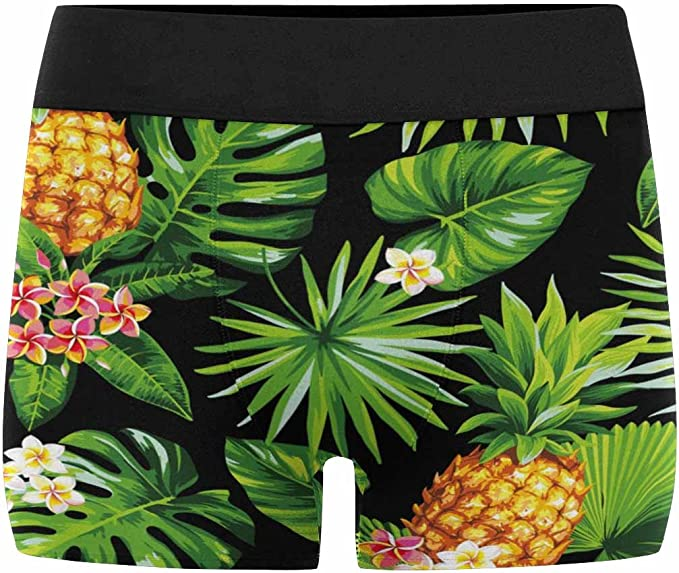 INTERESTPRINT Mens Boxer Briefs Underwear Pineapple XS-3XL