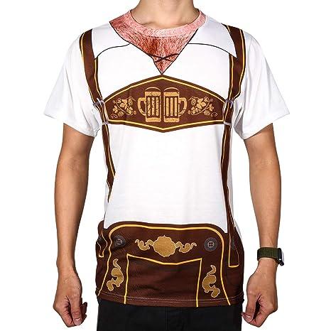 SATINIOR Diseño del Pecho Peludo de Oktoberfest para Hombre ...