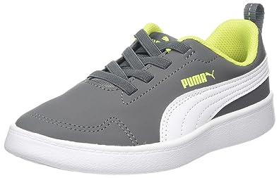 PUMA Courtflex PS, Baskets Mixte Enfant: