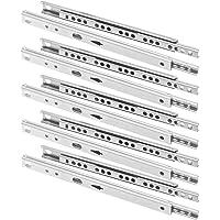 FURNICA 10x Guía para cajón ranurado H17mm /
