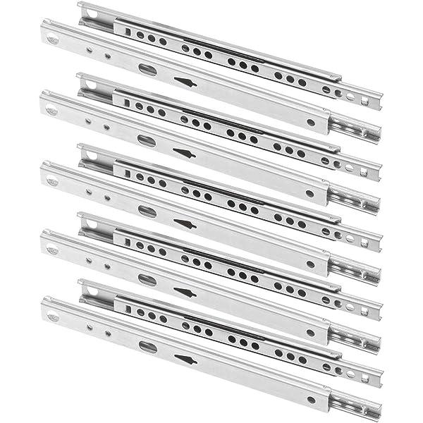 longitud de 182//214//246//310//342//400 mm para archivadores ancho de 17 mm 2 gu/ías para cajones gu/ías de caj/ón con rodamiento de bolas de acero cajas de oficina y cajones de almacenamiento general.