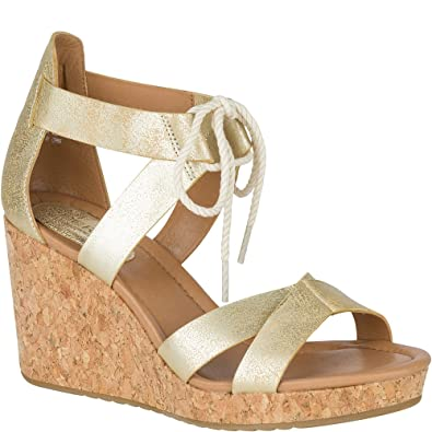 Sperry Top-Sider Women's Dawn Ari Wedge Sandal, Platinum, ...