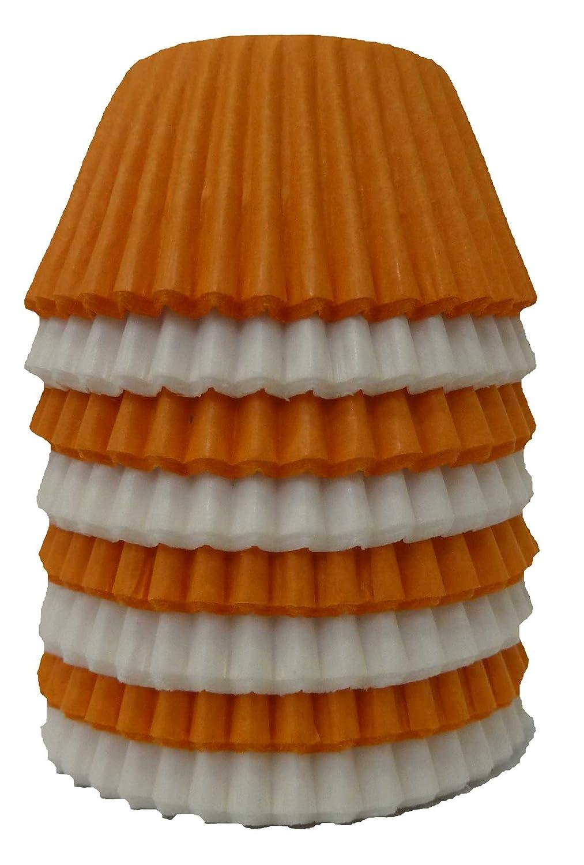 Orange//White x 120 Scrumptious Sprinkles Mixed Mini Muffin Cases