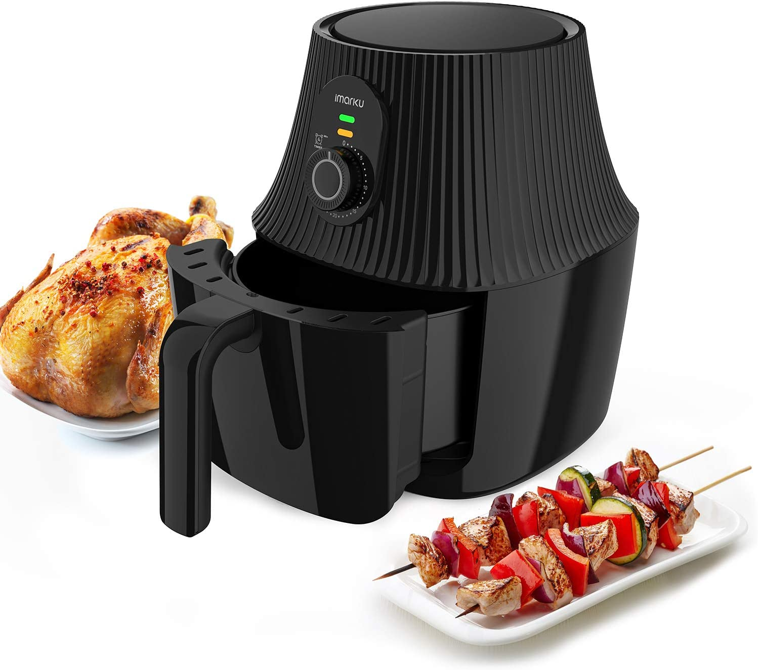 Air Fryer, imarku 2.6QT Electric Hot Air Fryers with Fast Cook Oven Oilless Cooker with Timer Knob, Healthy Power Oven Oilless Cooker for Air Frying, Roasting and Reheating