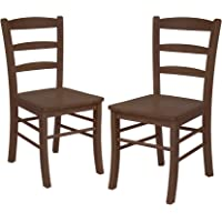 Winsome Wood Set of 2 Ladder Back Chair