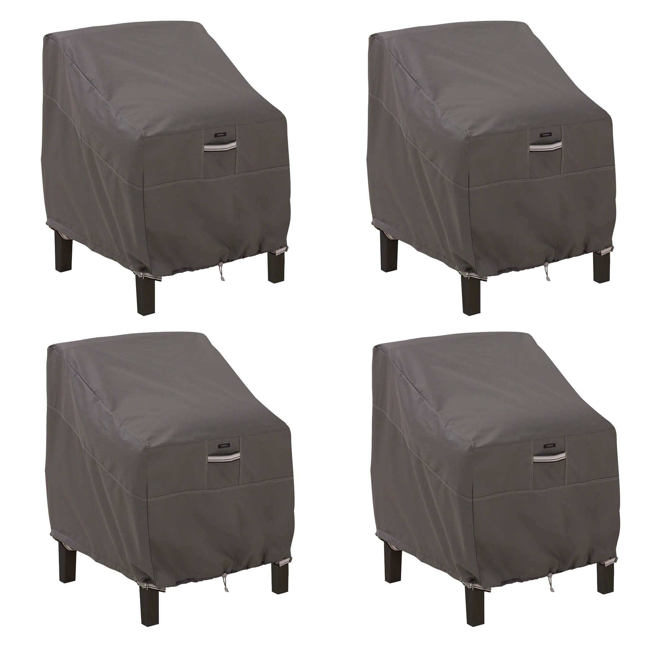 Classic Accessories 55-160-015101-4PK Ravenna Patio Lounge Chair Cover, Large (4-Pack)