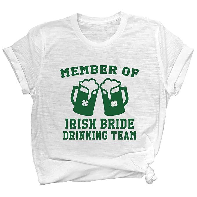 79b8f4179 Spunky Pineapple Member of The Irish Bride Drinking Team St. Patrick's Day  Bachelorette Drinking Premium T-Shirt at Amazon Women's Clothing store: