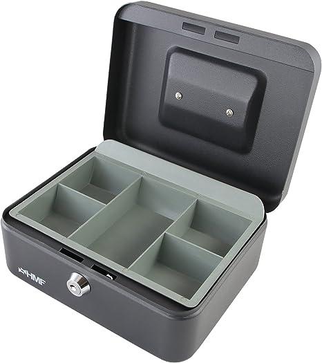 HMF 10120-02 Caja de caudales 20 x 16 x 9,5 cm, negro: Amazon.es: Oficina y papelería