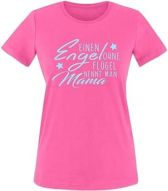 EZYshirt® Ein Engel ohne Flügel nennt man Mama Damen Rundhals T-Shirt